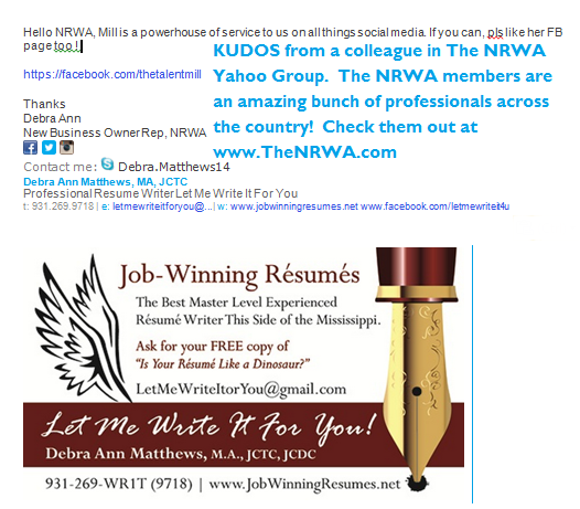The National Resume Writers Association - an amazing group of generous professionals and mentors