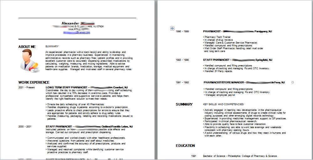 pharmacist resume screenshot the talent mill help write resume